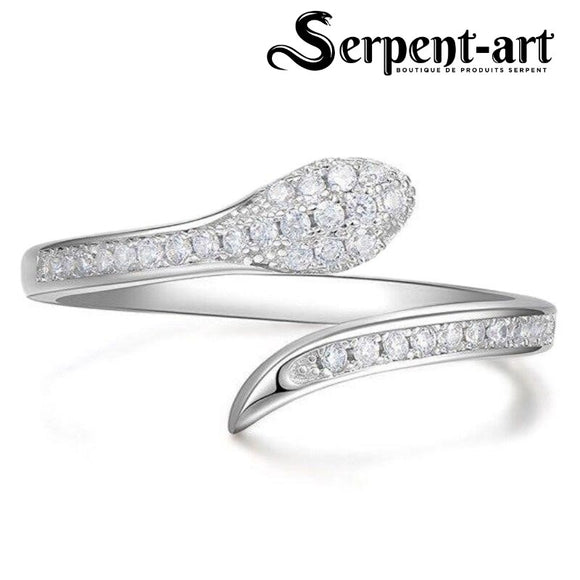 Bague serpent secret zircon