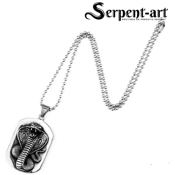 Collier serpent cobra royal