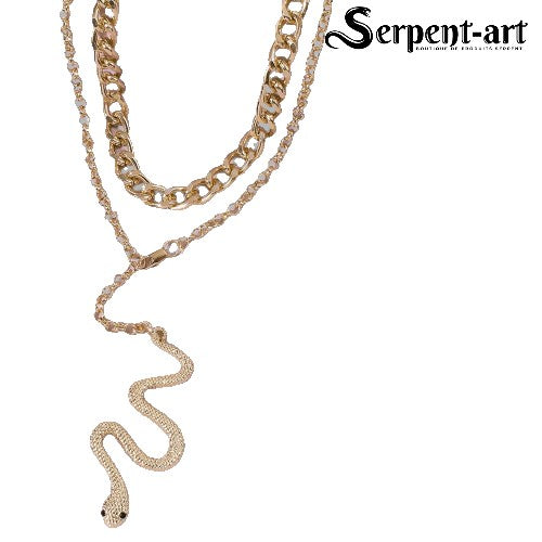 Collier Serpent élégance