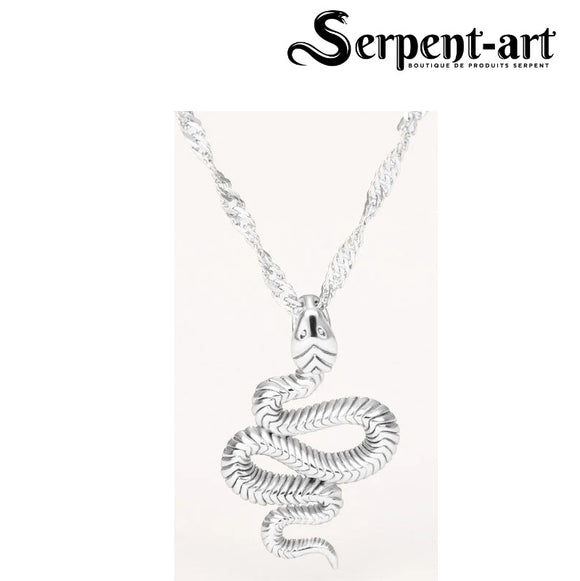 Collier serpent glamour argent