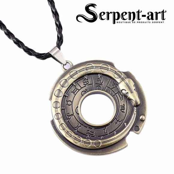 Collier serpent ouroboros