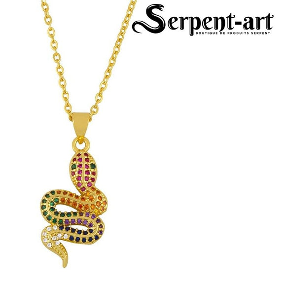 Collier Serpent luxe