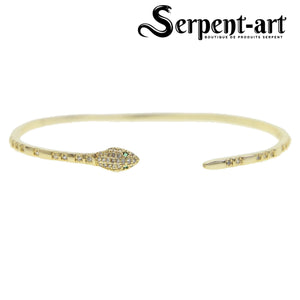 Bracelet serpent Jet Set or