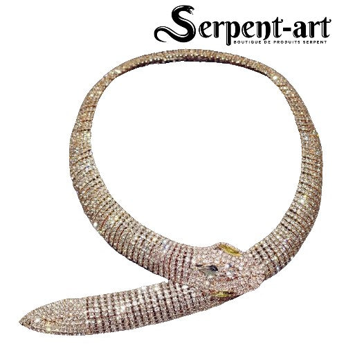Collier Serpent cristal
