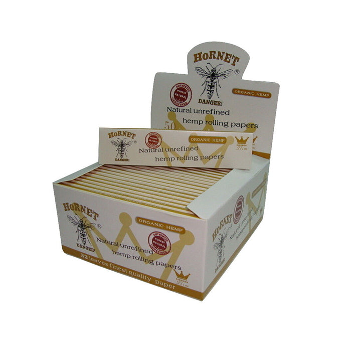 50 Hornet White King Size Organic Rolling Papers - EzCloudz
