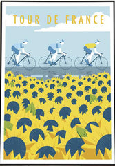 Tour de France sunflower scene