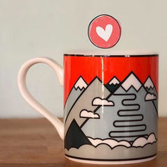 Cycling themed mug by The Handmade Cyclist