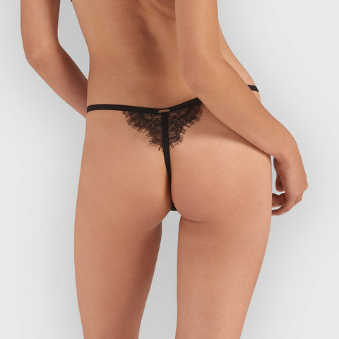 Lyra Thong Black
