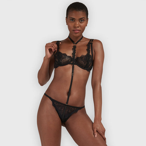 Mera Detachable Harness Brief Black