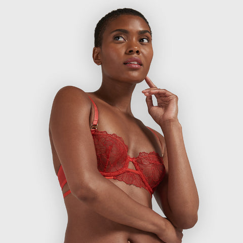 Vienna Bra Red