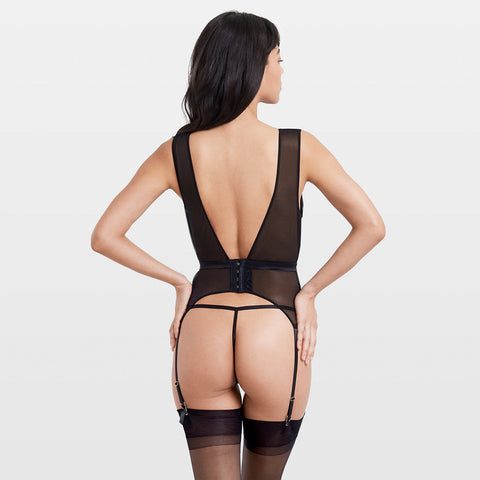 Fenella Soft Basque Black