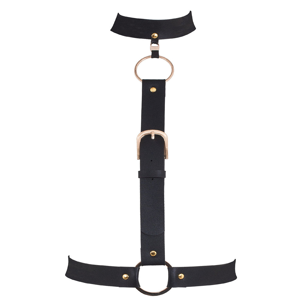 Fang Faux Leather Harness
