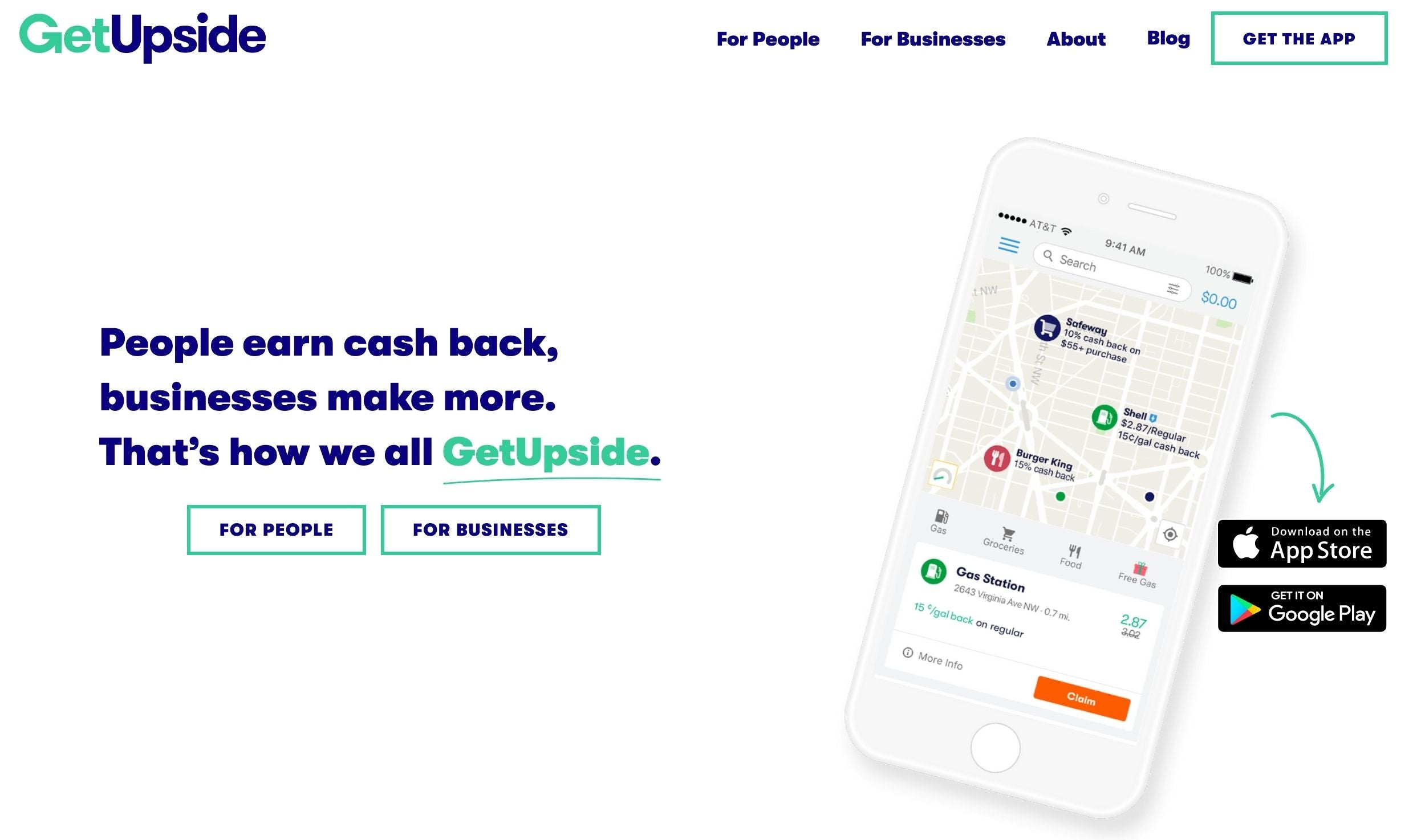 The cashback app for gas stations, restaurants, and grocery stores is available on the Apple App Store and Google Play Store.