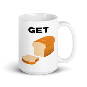 "The Millennial Investments classic ""Get Bread"" Money Mug coffee mug."