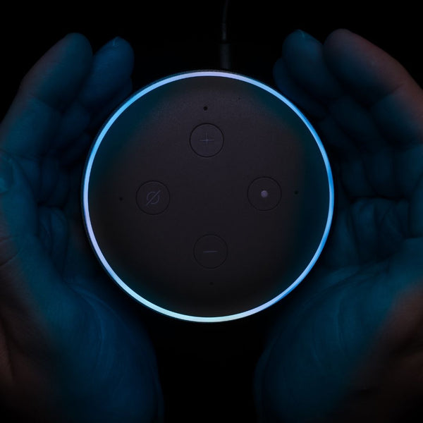 A Top View of an Amazon Echo