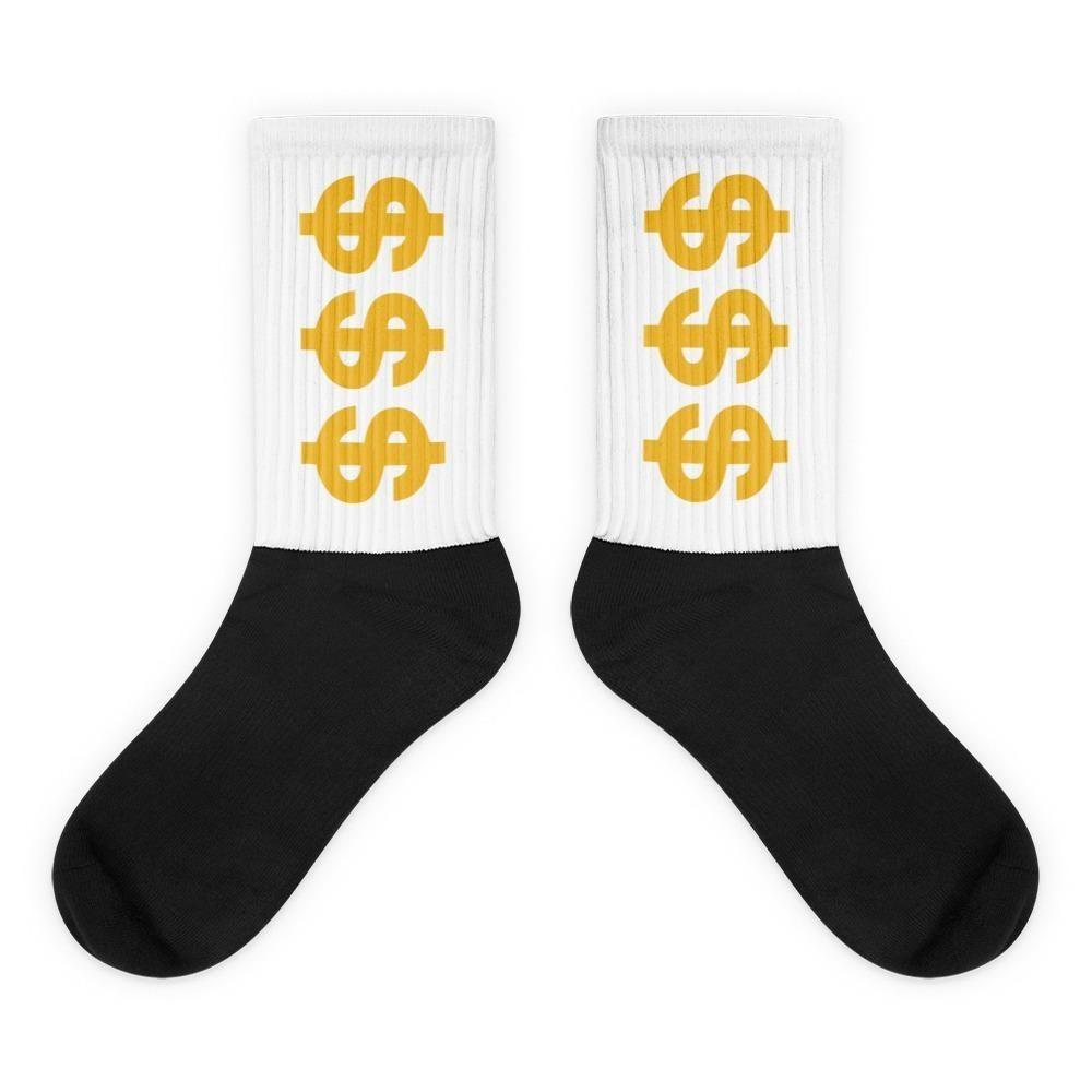 Rock these fabulous and comfy money socks so that everyone knows you're bringing in the Benjamins. These socks look great in pjs, jeans, shorts, and suits.