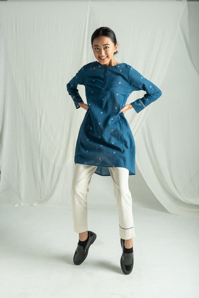 NATURAL INDIGO TUNIC
