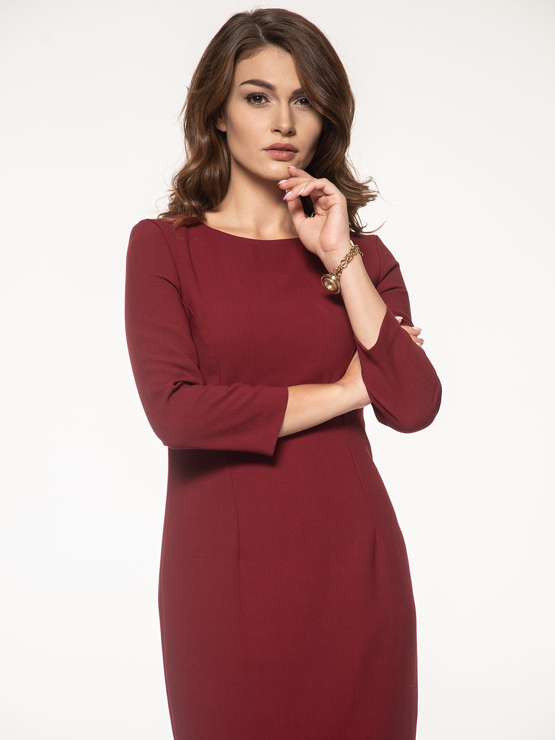 PENCIL DRESS WITH SLEEVES