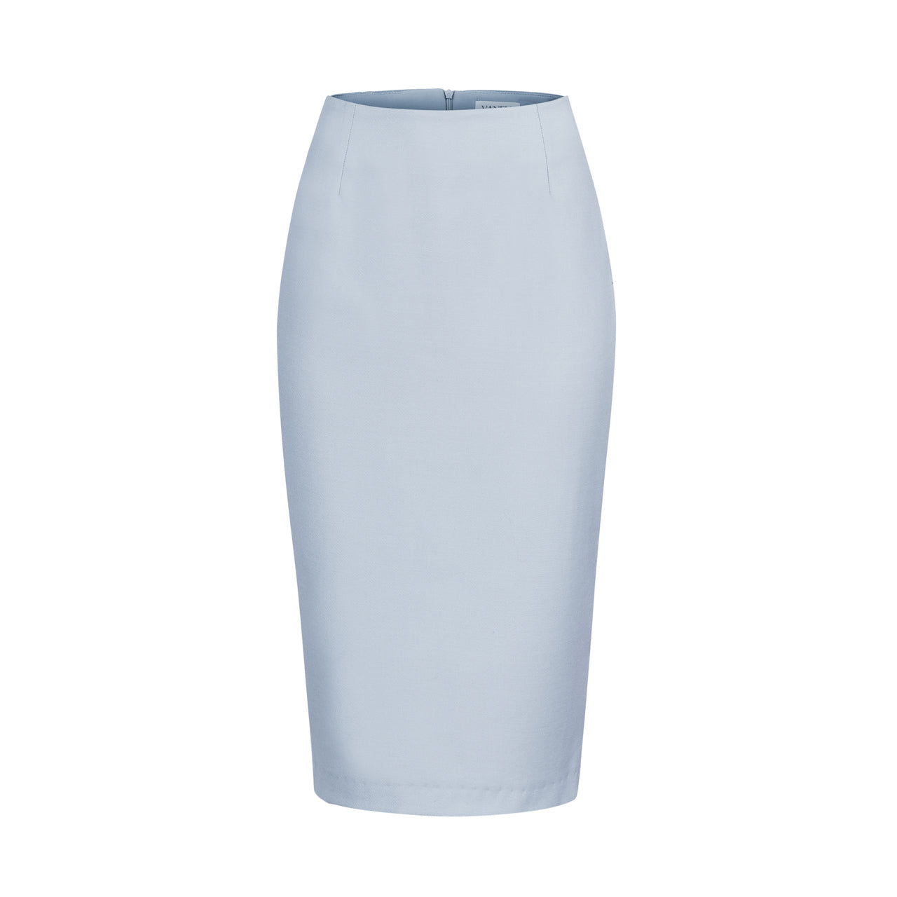 BLUE AND GRAY PENCIL SKIRT