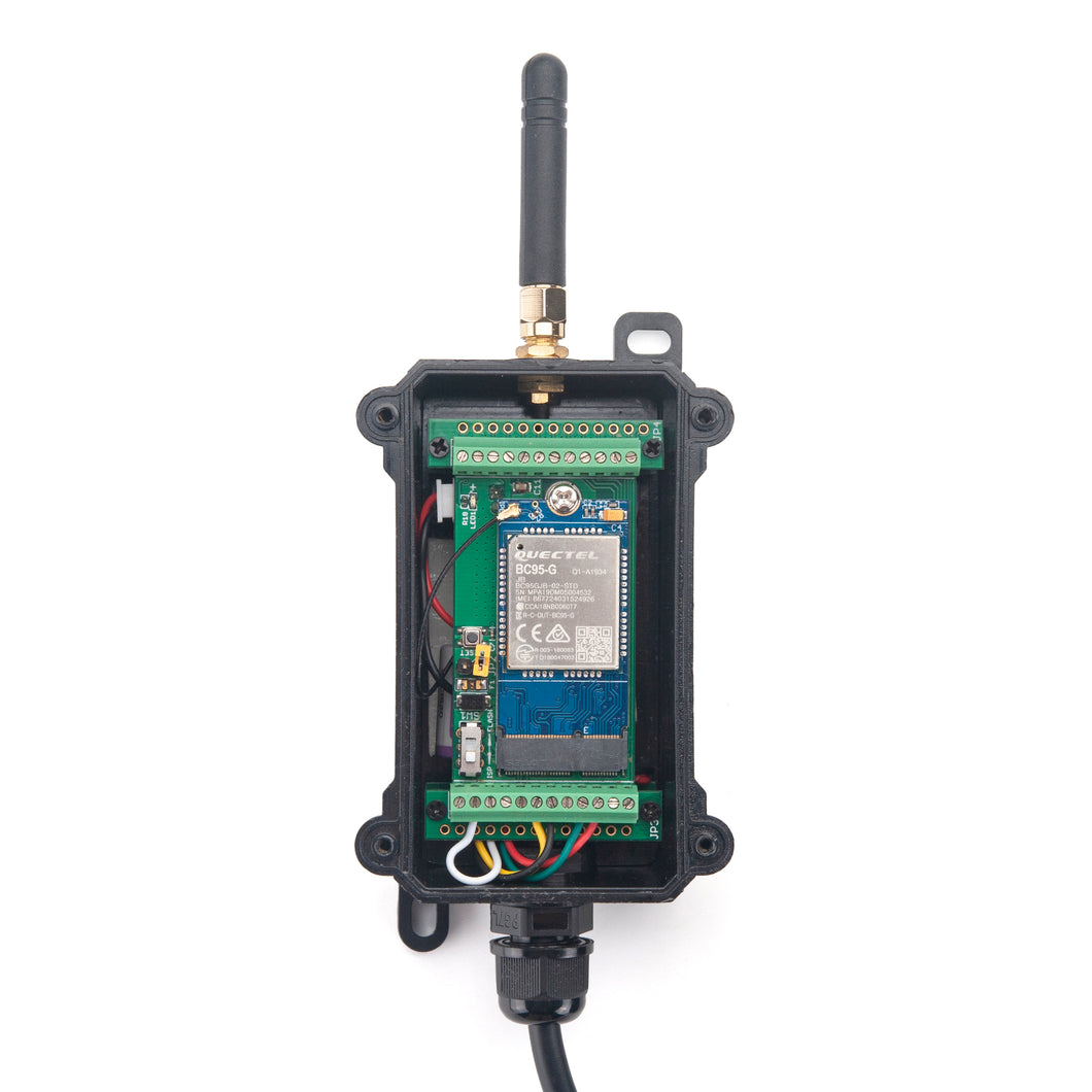 NBSN95 -- Waterproof Long Range Wireless NB-IoT Sensor Node With M16 IP68 waterproof cable hole
