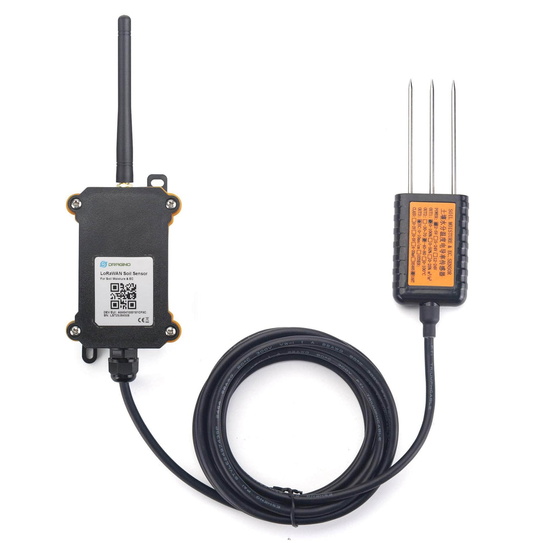 LORAWAN WIRELESS SOIL MOISTURE & Electrical Conductivity SENSOR LSE01 Dragino