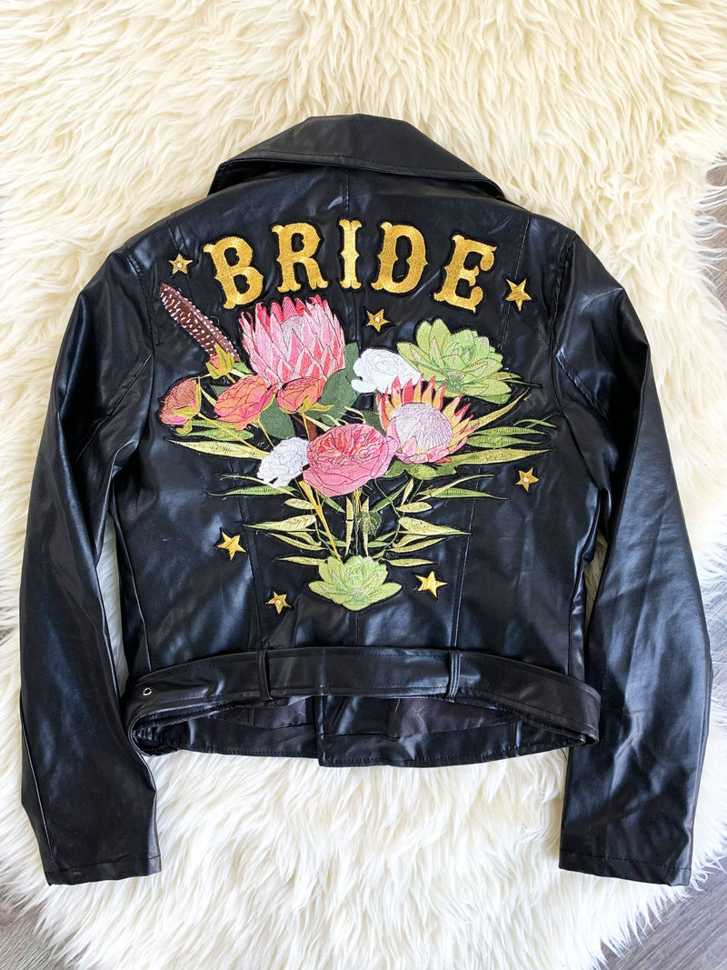 Bohemian Bouquet Vegan Leather Jacket