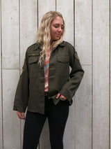 'Love' Autumnal Embroidered Army Jacket