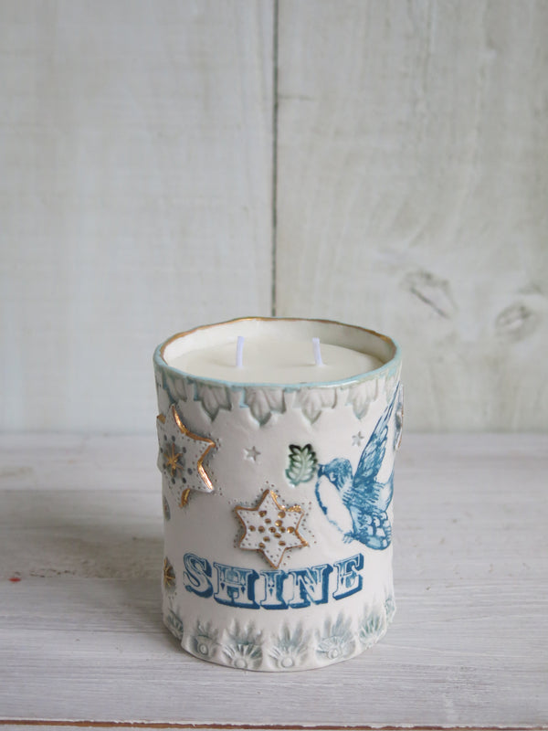 'Shine' Bluebird Candle - 2 wick