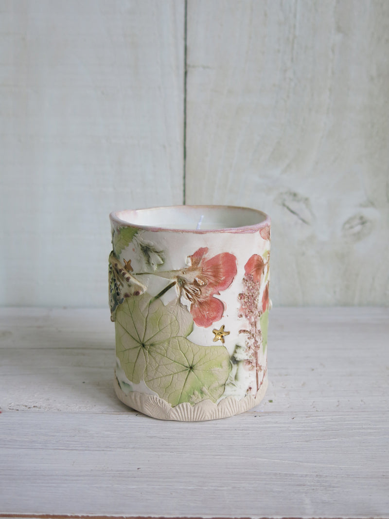 Flying Moths Botanical Moth Candle - 2 wick
