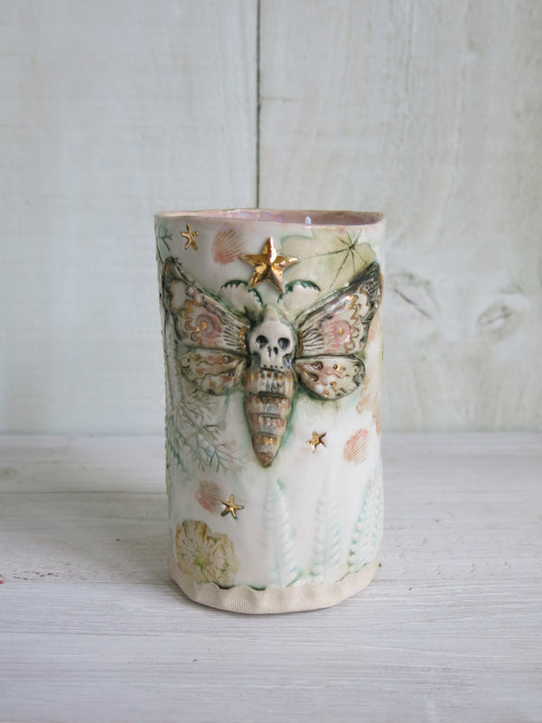 Tall Hawkshead Botanical Moth Candle - 2 wick