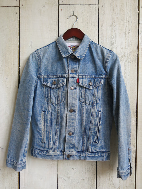 'Dreamer' Embroidered Denim Jacket - S