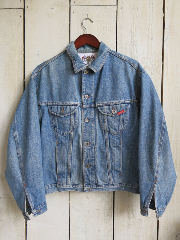 'Have Heart' Embroidered Denim Jacket - M/L