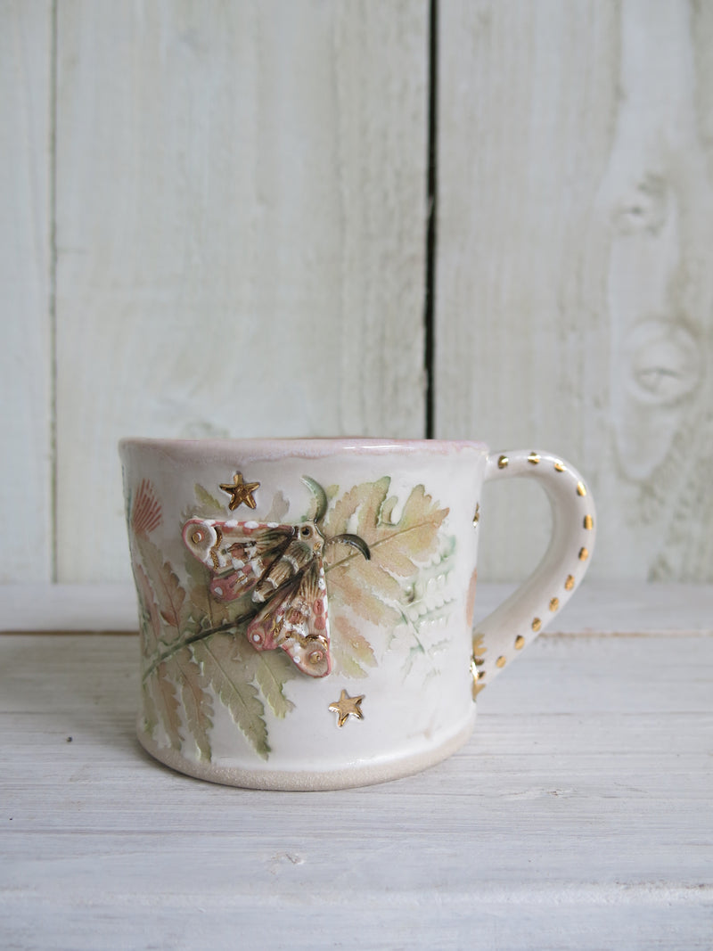 Botanical Moth Ceramic Mug