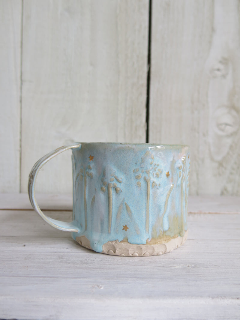 Blue Star Ceramic Mug
