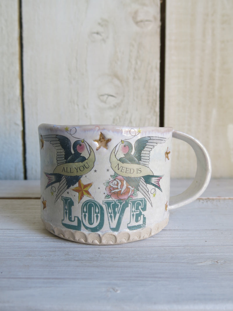 Tattoo 'Love' Ceramic Mug