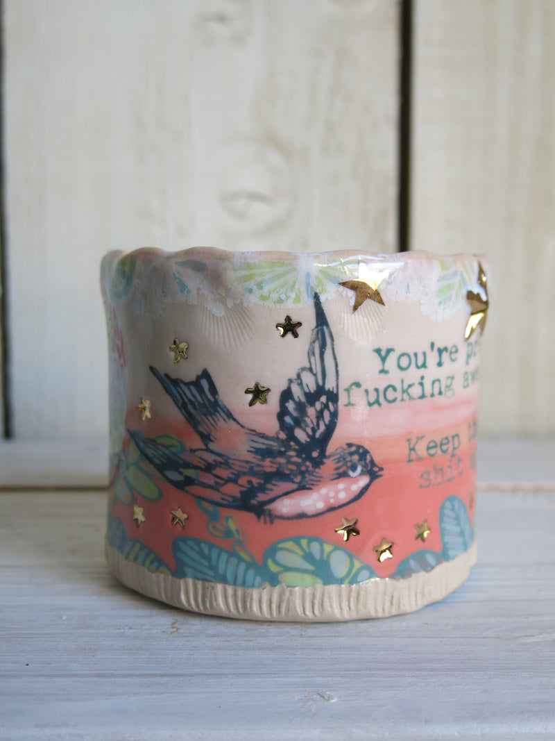 'You're Pretty Fucking Awesome' Ombre Ceramic Mug