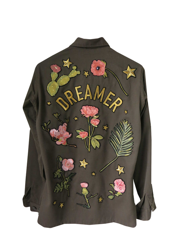 'Dreamer' Embroidered Army Jacket