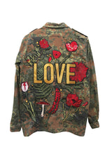 'Love' Embroidered Camo Jacket