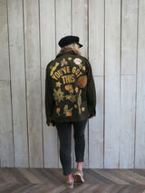 'You've Got This' Botanical Khaki Jacket - M