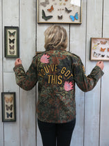 'You've Got This' Embroidered Camo Jacket