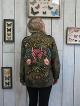 'My Sun My Moon' Embroidered Camo Jacket