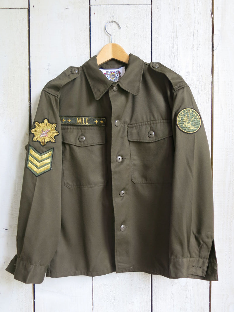 'Wild' Embroidered Army Jacket