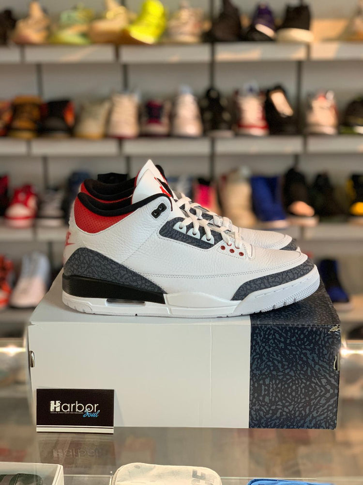 Jordan 3 Fire Red Denim (2020) 11.5M