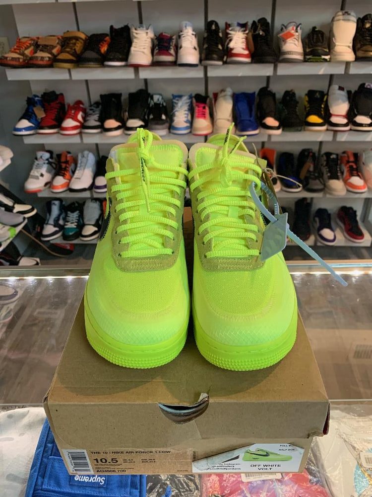 Load image into Gallery viewer, Nike Air Force 1 Low OFF-White Volt 10.5M