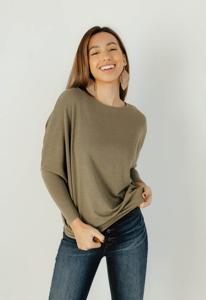 Favorite Comfy Tunic - OLIVE