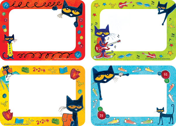 Pete the Cat® Name Tags/Labels - Multi-Pack