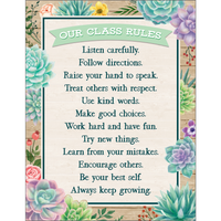 Rustic Bloom Our Class Rules Chart