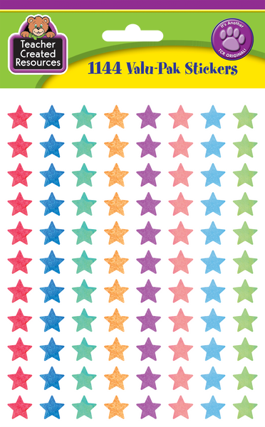 Watercolor Stars Mini Stickers Valu-Pak