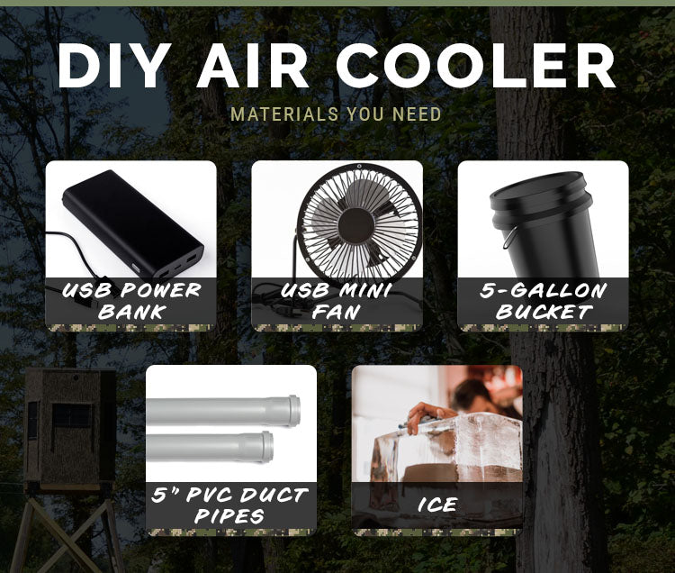 materials for a do it yourself air cooler