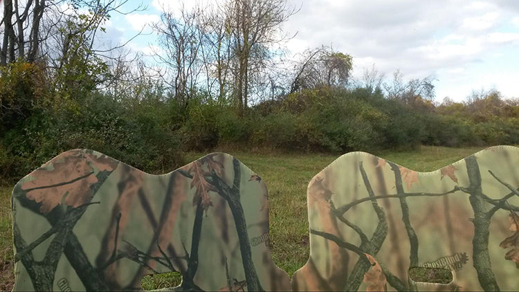 a couple of ground hunting blinds